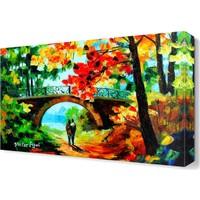 Dekor Sevgisi Aşıklar Köprüsü Canvas Tablo 45x30 cm