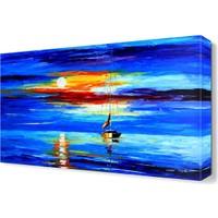 Dekor Sevgisi Mavi Deniz Canvas Tablo 45x30 cm