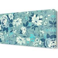 Dekor Sevgisi Dekoratif Mavi Çiçekler Tablosu 45x30 cm