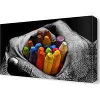 Dekor Sevgisi Pastel Boya Tablosu 45x30 cm