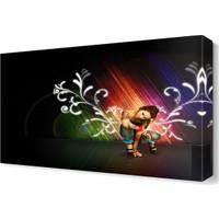 Dekor Sevgisi Renkler ve Kadın Tablosu 45x30 cm