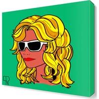 Dekor Sevgisi Gözlüklü Kadın Tablosu 45x30 cm