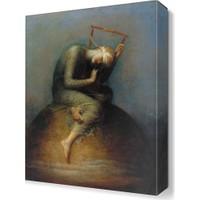 Dekor Sevgisi Küre Üzerindeki Adam Tablosu 45x30 cm