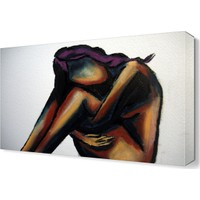 Dekor Sevgisi Yalnız Kalan Kadın Tablosu 45x30 cm