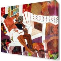 Dekor Sevgisi İki Kadın Tablosu 40x40 cm