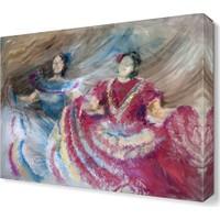 Dekor Sevgisi Dans Eden Kızlar Canvas Tablo 45x30 cm