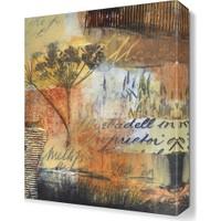 Dekor Sevgisi Ağaç ve Yazılar Canvas Tablo 45x30 cm