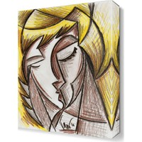 Dekor Sevgisi Sarışın Kadın Tablosu 45x30 cm