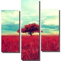Dekor Sevgisi 3 Parçalı Ağaç Tablosu 80x80 cm