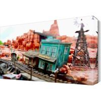 Dekor Sevgisi Minyatür Şehir Tablosu 45x30 cm
