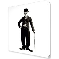 Dekor Sevgisi Charlie Chaplin Mustache Canvas Tablo 45x30 cm