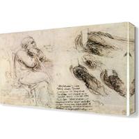 Dekor Sevgisi Davinci Skeç Portresi Canvas Tablo 45x30 cm