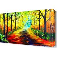 Dekor Sevgisi Eve Giden Patika Canvas Tablo 45x30 cm