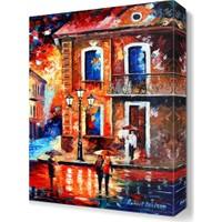 Dekor Sevgisi Komşularla Buluşma Canvas Tablo 45x30 cm