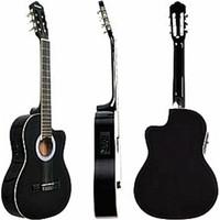 Carissa Cg-200Bk İnce Kasa Elektro Klasik Gitar