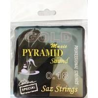 Gold Pyramid 0,18 Kısa Sap Profosyonel Bağlama Teli Takımı