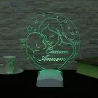 Decor Desing Dekojinal Anneler Günü 3 Boyutlu Lamba Anne3D004
