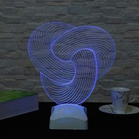 Decor Desing 3 Boyutlu Spiral Geometrik Lamba V23D006