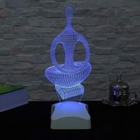 Decor Desing 3 Boyutlu Kadeın Figürü Heykel Lamba V23D013