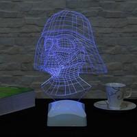 Decor Desing 3 Boyutlu Darth Vader Star Wars Lamba V23D143
