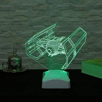 Decor Desing 3 Boyutlu Tıe Fighter Star Wars Lamba V23D149