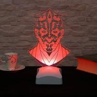 Decor Desing 3 Boyutlu Darth Maul Star Wars Lamba V23D151