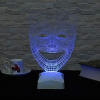 Decor Desing 3 Boyutlu Tiyatro Maskesi Gülen Surat Lamba V23D184
