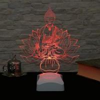 Decor Desing 3 Boyutlu Yoga Ve Buda Lamba V23D190
