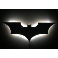 Decor Desing Gölge Lamba Beyaz Batman Sembolü Glmb018