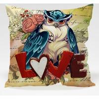 Decor Desing Baykuş Yastık Kılıfı Owl010