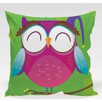 Decor Desing Baykuş Yastık Kılıfı Owl045