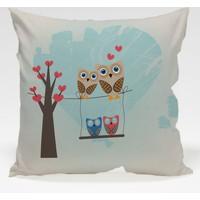 Decor Desing Baykuş Yastık Kılıfı Owl057