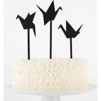 Decor Desing Pasta Üstü Süsü 3 Adet Cake063