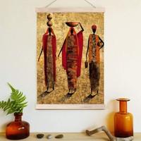 Decor Desing Askılı Deri Duvar Posteri Hak051