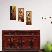 Decor Desing Dekoratif 3'lü Mdf Tablo Xtp155