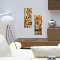 Decor Desing Dekoratif İki Li Mdf Tablo Xtp253