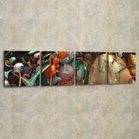 Decor Desing 4'lü Panaromik Kanvas Tablo Seti Pan025