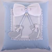 Küçük Rüyalar Yst014Mv Bebek Takı Yastığı Mavi