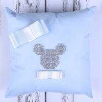 Küçük Rüyalar Yst018Mv Bebek Takı Yastığı Mavi