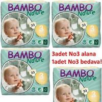 Bambo Nature Bebek Bezi 4'lü Paket 3 Beden 132 Adet