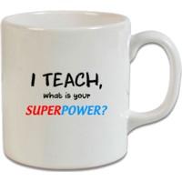 XukX Dizayn Super Power Öğretmen Kupa