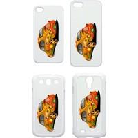 XukX Dizayn Çiçekli VosVos Telefon Kapağı İphone 4/5 Galaxy S3/S4