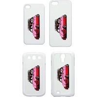 XukX Dizayn Pembe VosVos Telefon Kapağı İphone 4/5 Galaxy S3/S4