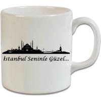 XukX Dizayn İstanbul Seninle Güzel Kupa