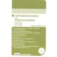 Beta Yayınevi Türk Medeni Kanunu ve Borçlar Kanunu (Cep 019)