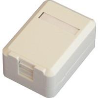 Dorax 1 Port Shutter Kapaklı Sıva Üstü Data Prizi (Boş) Dr-6104-1Pb