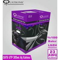 Quatronıc Cat6 305M 23Awg Utp %100 Bakır Lszh Quakabcat6Cop23L