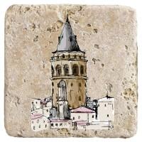 XukX Dizayn Galata Kulesi Bardak Altlığı