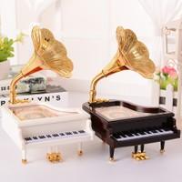 Piyano Müzik Kutusu Kahverengi