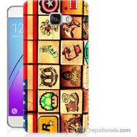 Bordo Samsung Galaxy A7 2016 Amerikan Oyunları Baskılı Silikon Kapak Kılıf